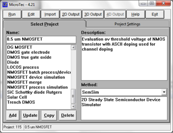 Semiconductor Process and Device Simulator MicroTec